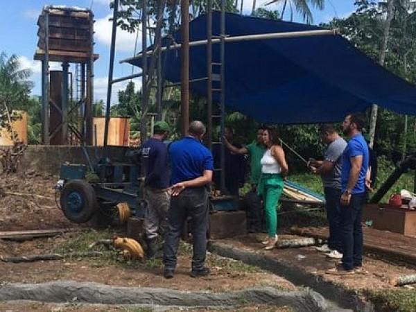 Perfuração do Novo Poço.. Foto: Portal Moju