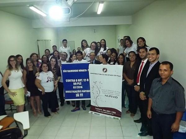 Aula inaugural de implantação do Laboratório Maria da Penha em São Raimundo Nonato-PI. Foto: Fotos: Alírio Ribeiro