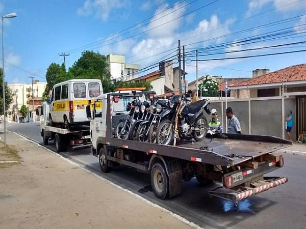 SMTT realizou ontem (11) operações de fiscalização de trânsito em três pontos da cidade. Foto: