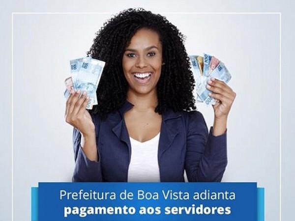 Prefeito de Boa Vista confirma para hoje o pagamento a todos os servidores. 13º foi pago. Foto: Antonio Izidro
