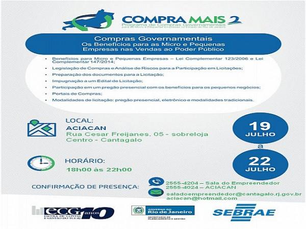 Banner do curso. Foto: Divulgação/Sebrae-RJ